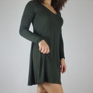 Express Loose Flare Mini Dress Green Size XS